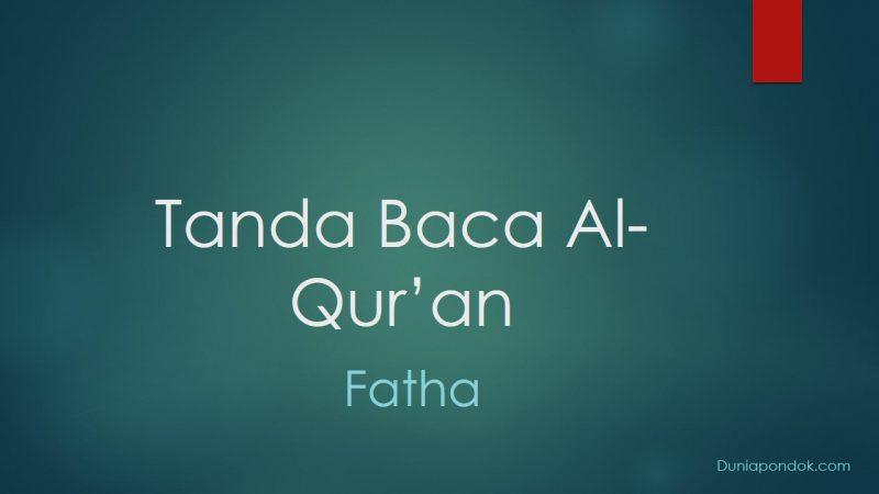 tanda baca Al-Qur'an