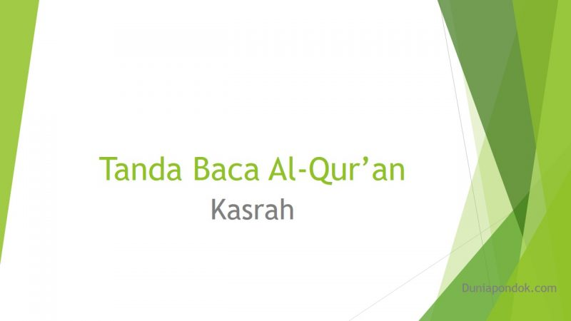 tanda baca al-qur'an kasrah
