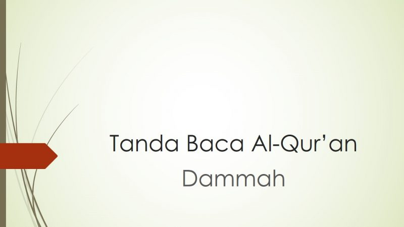 tanda baca Al-Qur'an dammah