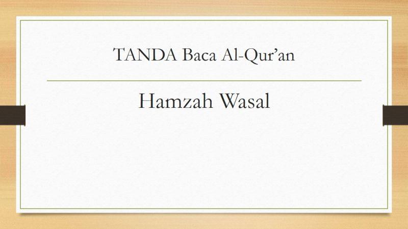 tanda baca Hamzah wasal